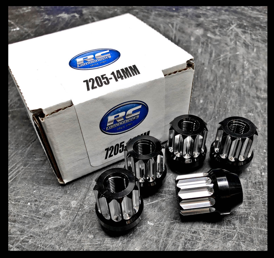 14MM X 1.5 12PT Acorn Style Lug nut (Black and Machine Finish)