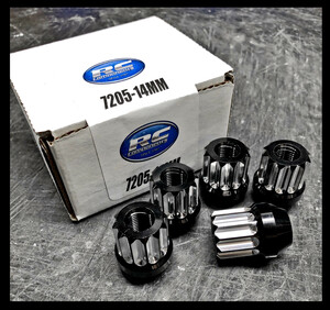 12MM X 1.5 12PT Acorn Style Lug nut (Black and Machine Finish)