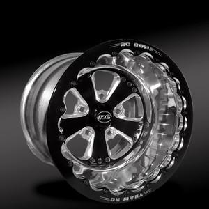 Retro Eclipse Beadlock Rear Wheel • Retro Eclipse Center • Polished Outer • Eclipse Beadlock