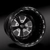 Retro Eclipse Beadlock Rear Wheel • Retro Eclipse Center • Black Outer • Eclipse Beadlock