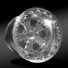 Retro Polished Beadlock Rear Wheel • Retro Polished Center • Polished Outer • Polished Beadlock