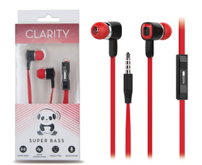 iPanda Super BassCLARITY Earbuds with Inline Mic