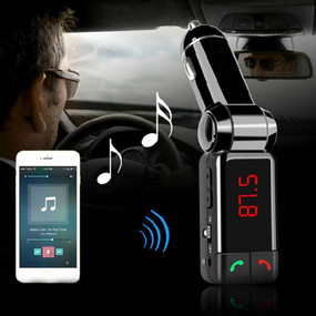 Hands-free Wireless Car  Receiver FM Transmitter and Mic
