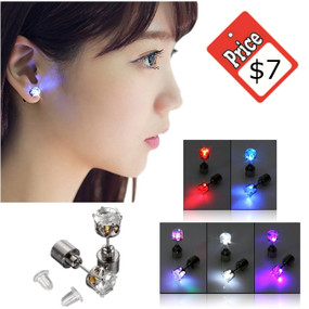 LED Light Up Earrings - 6 Colors
