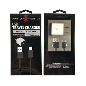 iPanda USB Travel Charger | Type - C | 3 Ft Cable