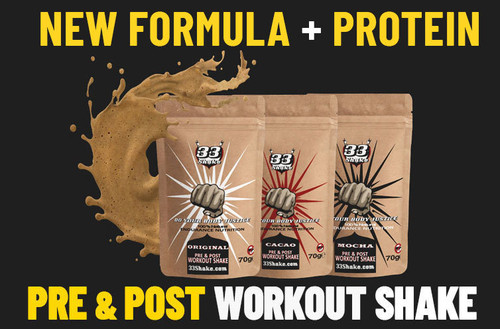 33Shake Pre and post Workout USA