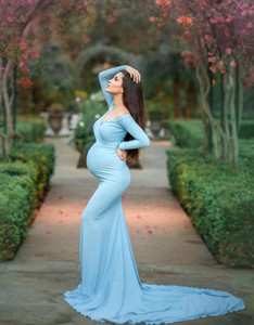 Scarlet  Maternity Dress, Fitted with long sleeves
