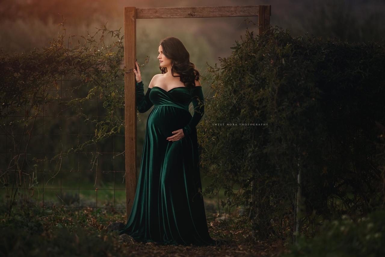 344ed8530cc Darah Velvet Royal Blue Maternity Dress. Price   155.00. Image 1. Larger    More Photos