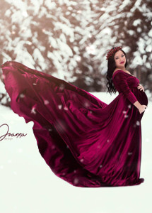 3fc422481 Darah Velvet Burgundy Maternity Dress, Long Sleeves Velvet Dress, A line  Velvet Dress