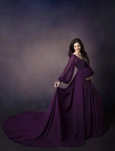 Color: Raisin Plum, Top: Sweetheart Neckline, On Shoulders, long lining