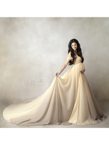 Cream Taupe Ombre Gown
