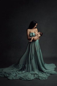 Paisley Maternity Gown