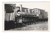 Monson, Maine Real Photo Postcard:  Narrow Gauge Train Engine