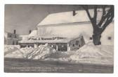 York, Maine Postcard:  Old Thompson Farm in Winter & Ice Cream