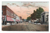 Excelsior Springs, Missouri Postcard:  Broadway Looking East from Main Street