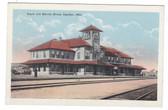 Sapulpa, Oklahoma Postcard:  Railroad Station & Harvey House