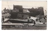 Tyler, Minnesota Real Photo Postcard:  Post Office Corner after August 21, 1918 Tornado