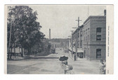 Chicopee Falls, Massachusetts Postcard:  Main Street & Trolley Car