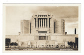 Cardston, Alberta, Canada Real Photo Postcard:  West Gate, Latter Day Saints Mormon Temple