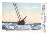 Cohasset, Massachusetts Postcard: 1897 Wreck of the Juniata