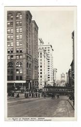 Tacoma, Washington Real Photo Postcard:  Retail District & Trolley Car