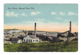 Mineral Point, Wisconsin Postcard:  Zinc Works