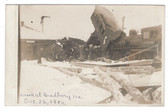 Bradbury, Maine Real Photo Postcard:  Train Wreck at Railroad Depot