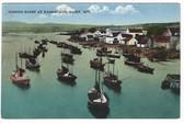 Barrachois, Gaspe, Quebec, Canada Postcard:  Fishing Fleet