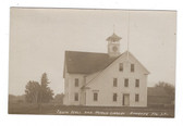 Andover, Maine Real Photo Postcard:  Town Hall & Public Library