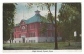 Dysart, Iowa Postcard:  High School