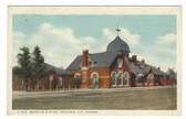 Arkansas City, Kansas Postcard:  Santa Fe Railroad Station