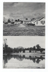 Farmington, Maine Real Photo Postcard:  Perkins Motel and Cabins