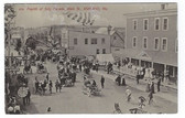 Ashland, Maine Postcard:  Fourth of July Parade on Main Street