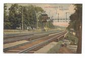 Amsterdam, New York Postcard:  Block Railroad Station