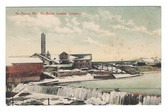 North Anson, Maine Postcard:  North Anson Lumber Company in Winter