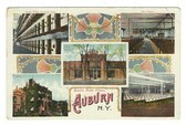 Auburn, New York Postcard:  Five Views of the Auburn State Prison