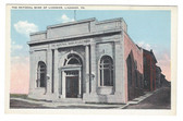 Ligonier, Pennsylvania Postcard:  The National Bank of Ligonier