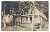 Schoodic, Maine Real Photo Postcard:  Lake-Side Camps