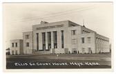 Hays, Kansas Real Photo Postcard:  Ellis County Court House