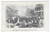 Toledo, Ohio Postcard:  1906 Knights Templars' Parade on Superior Street