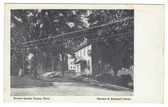 Conway, Massachusetts Postcard:  Masonic Square
