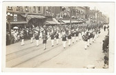 Elmira, New York Real Photo Postcard:  Band in Downtown Parade