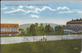 Jefferson, New Hampshire Postcard:  Waumbek Hall, Maple Cottage, & Tennis Court