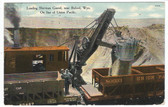 Buford, Wyoming Postcard:  Steam Shovel Loading Sherman Gravel