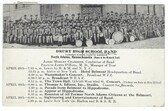 North Adams, Massachusetts Postcard:  Drury High School Band