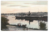 Pugwash, Nova Scotia, Canada Postcard:  Three Steamers Loading