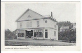 Beecher Falls, Vermont Postcard:  Furniture Store and Post Office