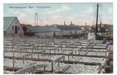 East Gloucester, Massachusetts Postcard:  Drying Fish