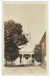 Stowe, Vermont Real Photo Postcard:  Community Church