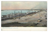Memphis, Tennessee Postcard:  Steamers at Wharf, Looking North
